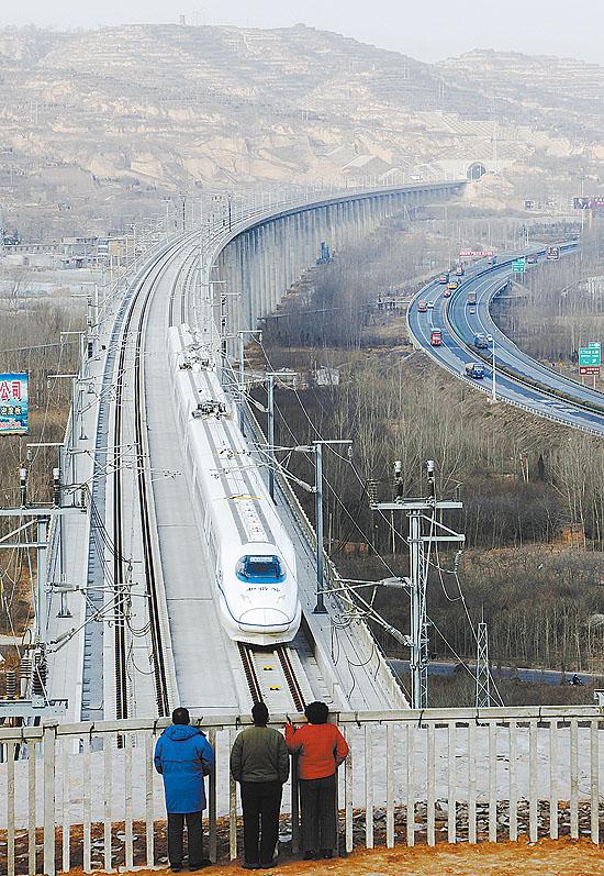 郑州到西安高铁测试 全程只需两小时