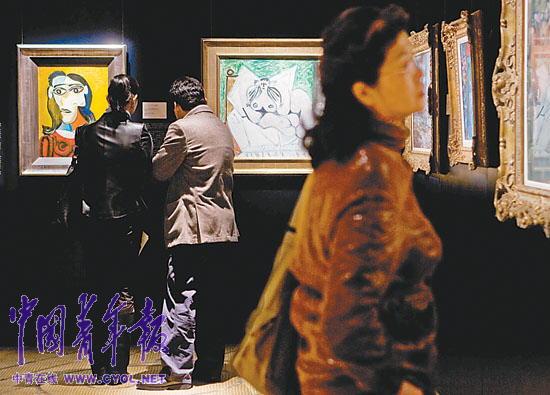油画原作10月22日亮相北京.其中毕加索情人朵拉·玛尔的肖高清图片